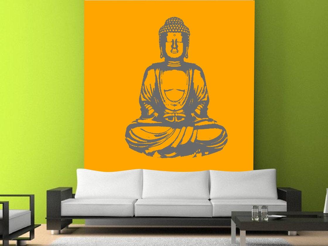 wall decal buddha silhouette india asian buddha yoga fatima zoom