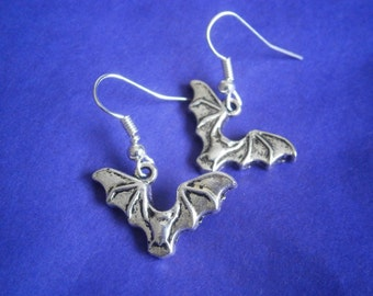 Bat Earrings - Halloween - Costume Earrings - Gothic