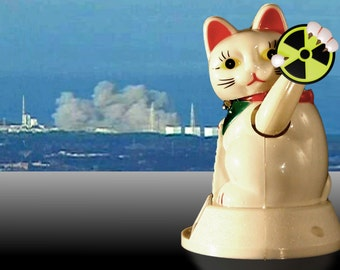 NMN (No More Nukes Bye Bye Neko) solar lucky cat
