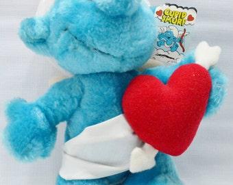 Cupid Smurf Plush Toy - Smurfs - Original Tag - Smurf Toy - Stuffed Smurf - 1982