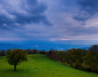 Spring storm over the Shenandoah Valley and Appalachian Mountains - Mountain Landscape Photography Fine Art Print or Wrapped Canvas