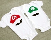 Items similar to Super Mario Brothers Baby Boy Girl