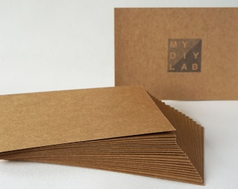 Set of 20 // Kraft Card Stock // 4x6 // Postcard Size // Extra Heavy Weight 350gsm 260lbs