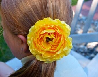 Beautiful Yellow Ranunculus Flower Soft Pretty Toddler Girl Teen Girl Adult Spring
