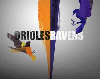 Birds of Baltimore - Orioles & Ravens Print