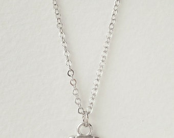 Anchor necklace in Silver tone  - dainty nautical jewelry