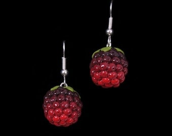 Summer Blackberry (Bramble) Earrings