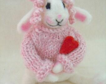 Petunia, a needle felted bunny rabbit