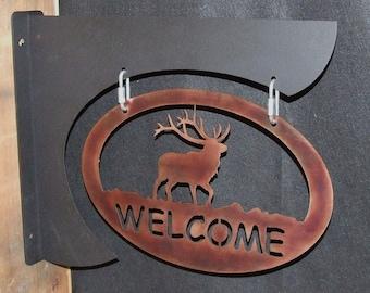 Custom metal welcome signs