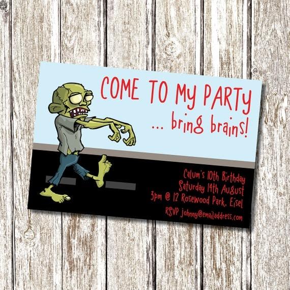 Zombie Printable Party Invitation