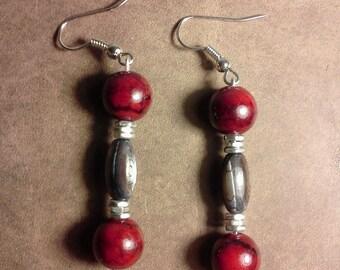 Quartzite and Shell Earrings