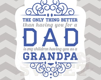 Dad Art Print: Only Thing Better Dad to Grandpa Printable (8.5 x 11)