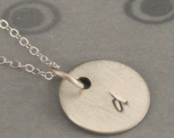 Sprouts--Solid Sterling Silver Initial Charm--Charm ONLY--Custom Hand Stamped with the Letter of YOUR Choice