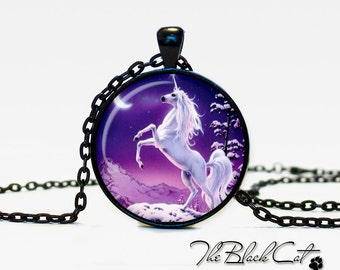 Unicorn pendant Unicorn necklace Unicorn jewelry fantasy style art gift (PU0013)