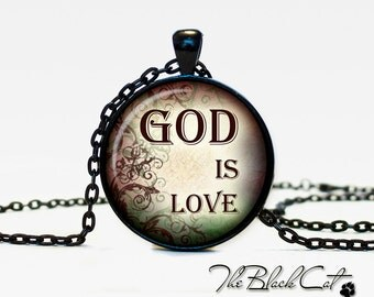 Christian Quotes pendant Inspirational necklace Sayings jewelry Quotes Phrases Christian (PQ0015)