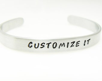 Both Side Stamped  personalized, hand stamped bracelet, custom BFF bracelet, gift bracelet, sister gift, gift for friend, sisters