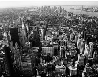 MANHATTAN, Black and white photograph, New York City photograph, Wall Decor, NYC Poster