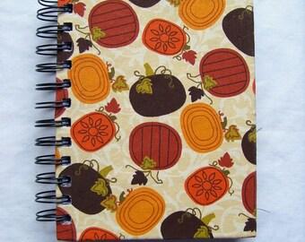 Pumpkins Fabric Notebook