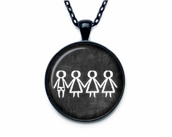 Mother necklace Mother pendant Chalk Board Necklace Proud Mom Necklace Mother's day necklace