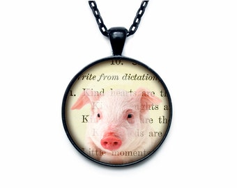 Piggie Pendant  Piggie necklace  Piggie jewelry
