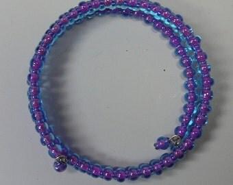 Aqua and Pink  Bracelet