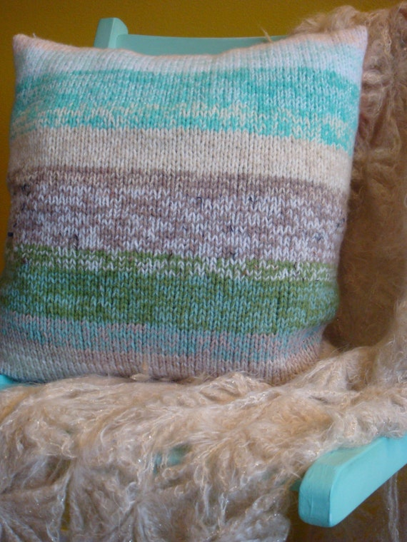 Knitting Pattern For Chunky Cushion Cover : Chunky hand-knitted cushion cover. Ready to Ship.