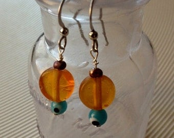 Orange Ya Glad - God's Eye Earrings