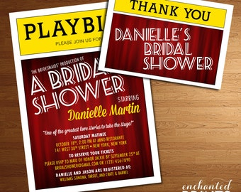 Broadway Collection - Printable Bridal Shower Invitation