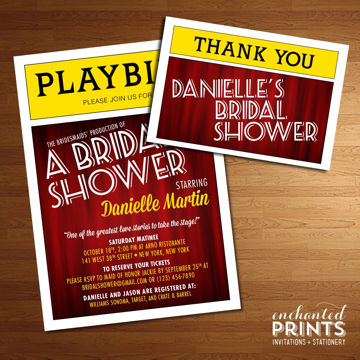 Playbill invitations – Broadway Ticket Template