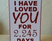 Today I Have Loved You For - Personalized Love Card **Please read description for important info!!!**