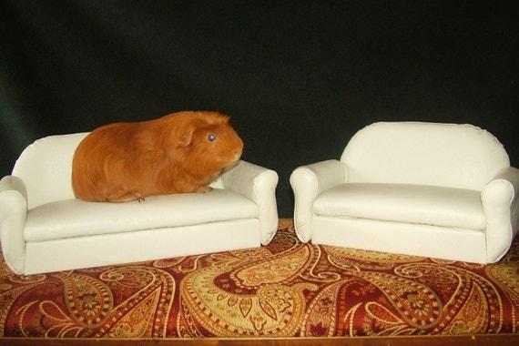 Items Similar To Guinea Pig Ferret White Sofa Bed