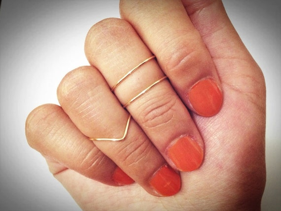 Knuckle rings: 2 mid ring & 1 chevron ring. by ...