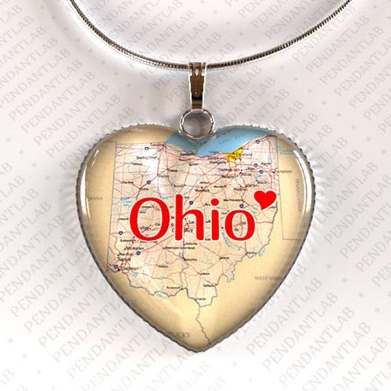 ohio pendant ohio necklace ohio state state by