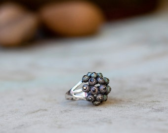 Silver Oxide Ball Ring