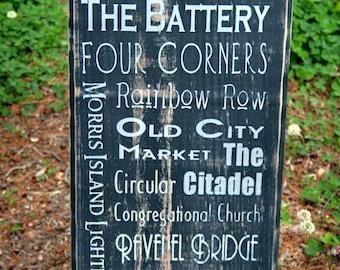 Charleston, South Carolina Typographical Art