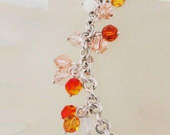 Harvest Colors Sterling Silver and Swarovski Bracelet