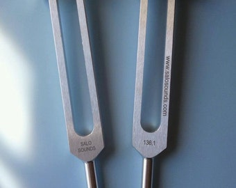 Tuning Forks Ohm 136.10 HZ Sound Therapy Forks Salo Sounds free shipping in USA