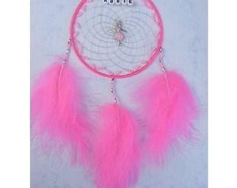 Hot Pink BALLERINA Personalised dreamcatcher girls bedroom gift present