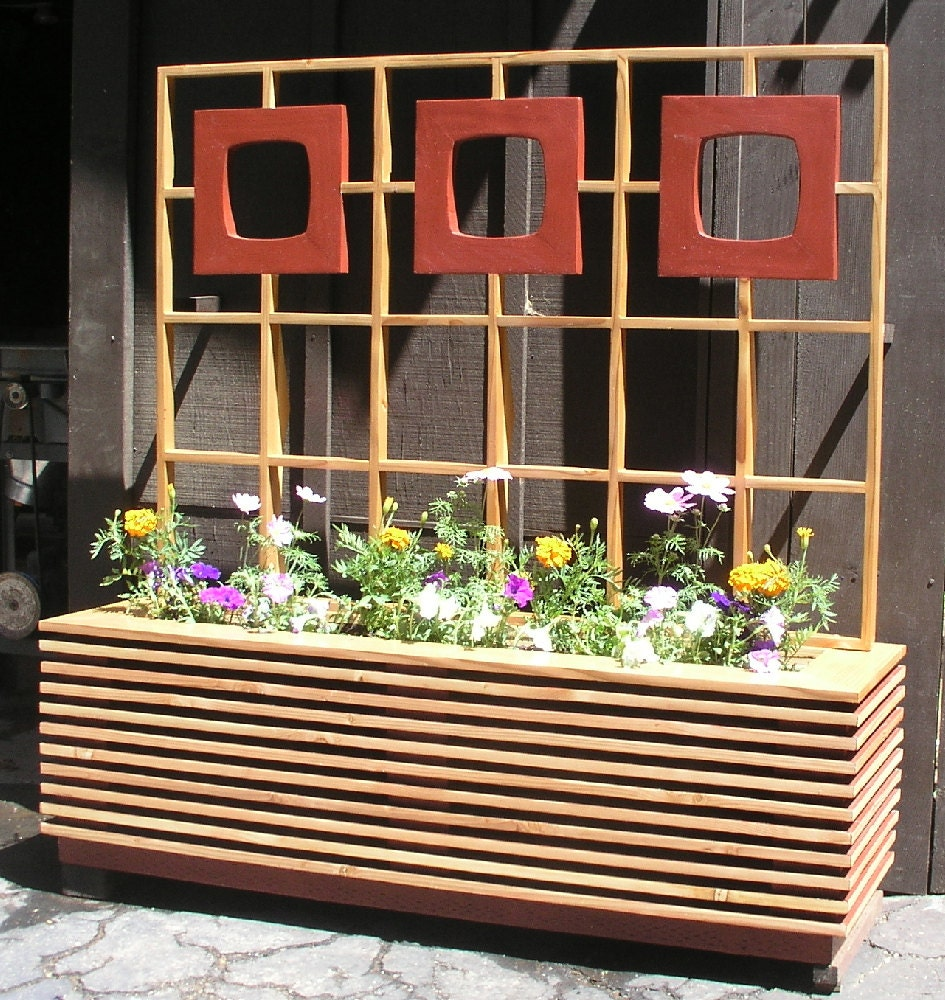 Mid Century Modern Atomic Age Planter Box