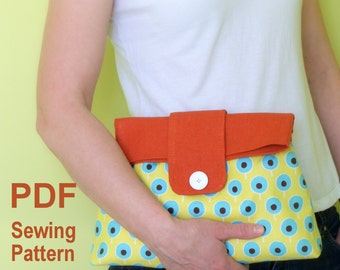 Double flap large clutch Sewing Pattern