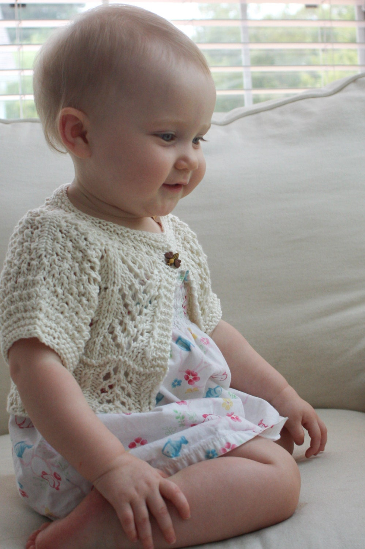 Child Bolero Knitting Pattern : Ailey baby bolero knitting pattern Download