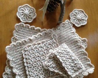 Hand Crochet Placemat Dining Set