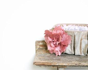 Blush Pink Bridesmaid Clutch. Monogram Clutch. Nude Clutch. Personalized Clutch. Silk Purse. Gift For Her. Silk Clutch. Makeup Bag.