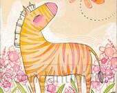 Zebra Art Print - Zebra - Zebra Painting - Nursery Art - Zebra Nursery - Nursery Room Decor - Baby Room - Giraffe Baby