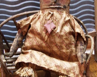Instant Download Extreme Primitive DOLL EPATTERN Pattern Easy to Make Worried Wanda Very PRIM