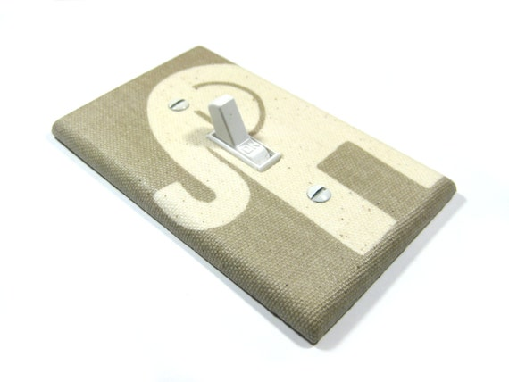 Items Similar To Burlap And Cream Elephant Light Switch