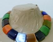 ONE Cats Eye Axe Head Pendant bead