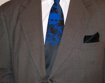 2 Skull ties, Men necktie - print to order in your colors
