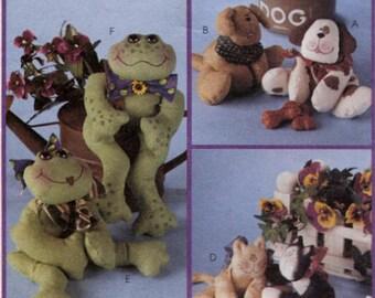 BEAN BAG Pal Sewing Pattern - Frog Dog & Cat Bean Bags Cynthia Rose