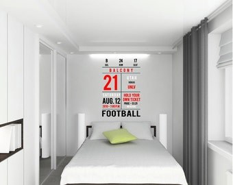 Ticket Sports Decal Customizable Wall Decal